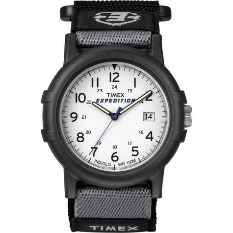 Timex Mens Camper Wrist Watch|Analog Display|Black Resin Case|White Face|Casual| Thumbnail 1