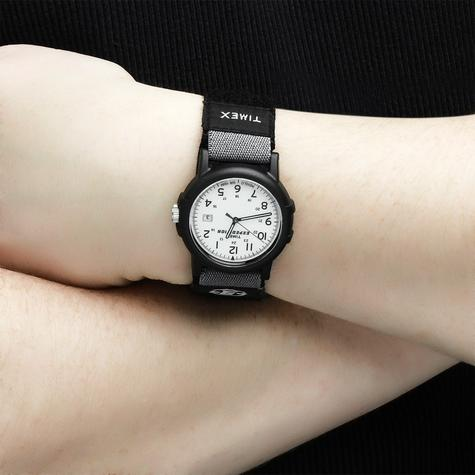 Timex Mens Camper Wrist Watch|Analog Display|Black Resin Case|White Face|Casual| Thumbnail 2