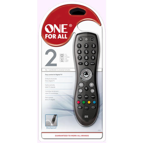 One For All Easy & Robust 2 in 1 TV Remote Control | Easy To Use | Black | URC6420 | NEW Thumbnail 4