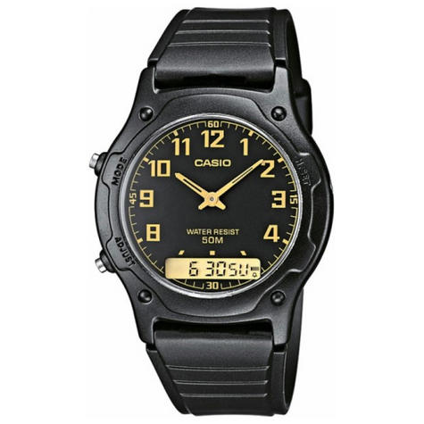 Casio AW-49H-1BVEF Casio Men Dual Watch|Analog/Digital|Daily Alarm|50Mtr WR|Black Thumbnail 1