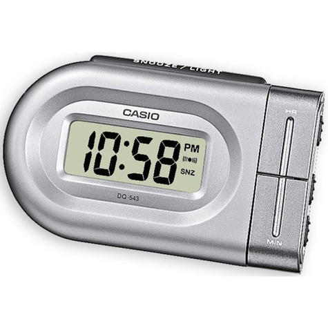 Casio DQ543-8 Bedside Digital Beep Alarm Clock|Snooze + Battery Included - Silver Thumbnail 1