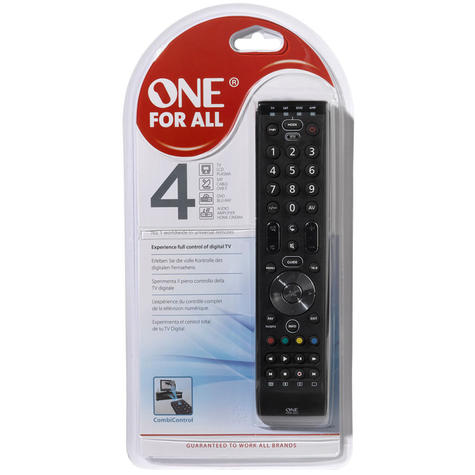 One For All Essence 4 in 1 Universal Remote Control | 3 Steps Setup | Black | URC7140 Thumbnail 4