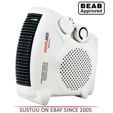 Lloytron F2003WH 2000w Fan Heater| 2 Heat Settings & Cool Blow| Auto Cut-off | White Thumbnail 1