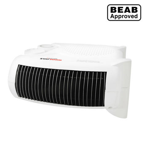 Lloytron F2003WH 2000w Fan Heater| 2 Heat Settings & Cool Blow| Auto Cut-off | White Thumbnail 2