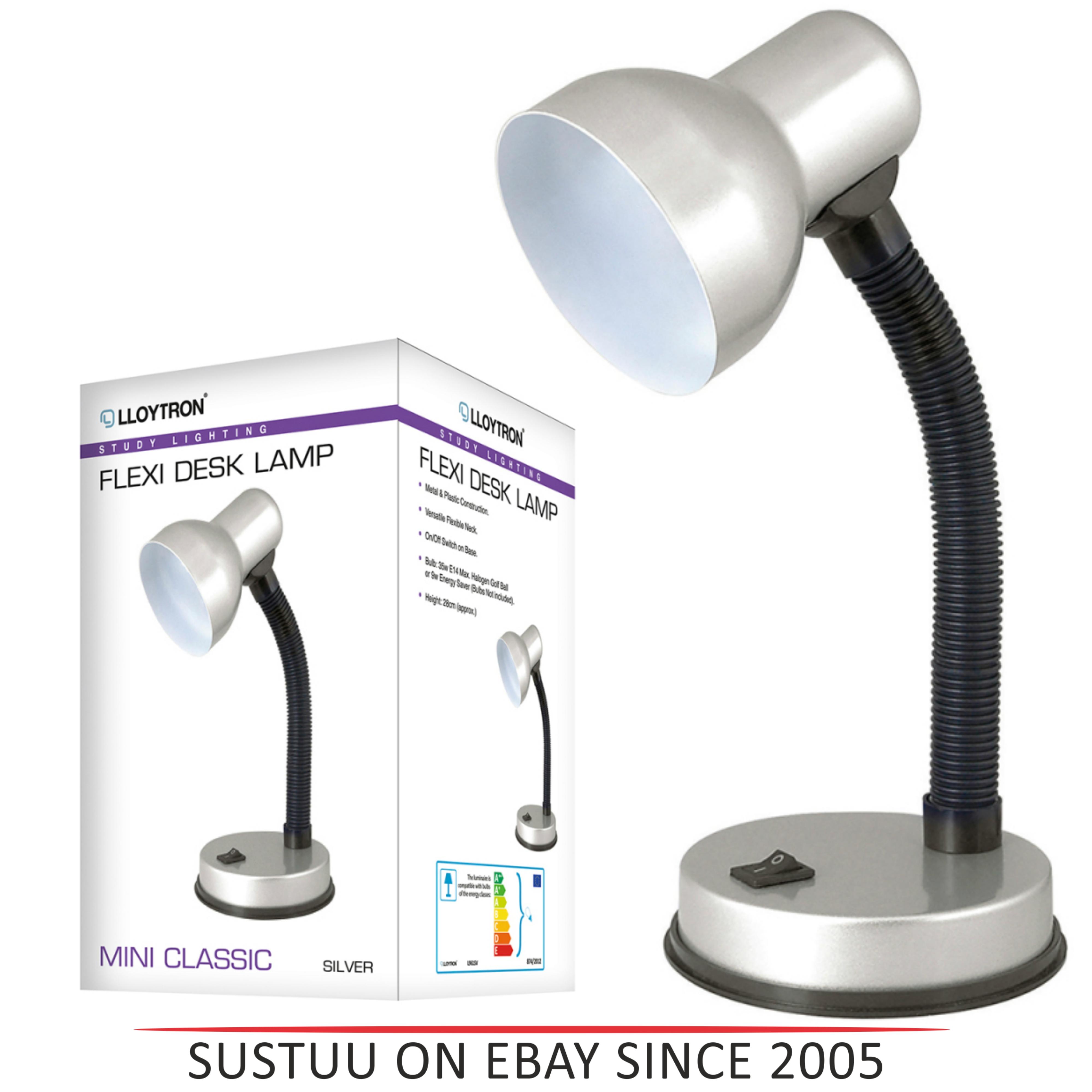 Lloytron  L961SV Flexi Desk Lamp / Mini Classic / Study Lighting / - Silver