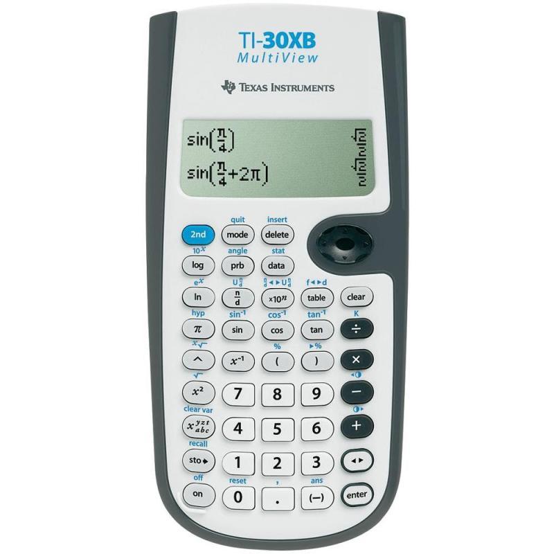 Texas Instruments Scientific Calculator | Multi-Line Display | White | 30XBMVTBL3E2