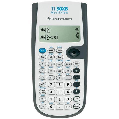 Texas Instruments Scientific Calculator | Multi-Line Display | White | 30XBMVTBL3E2 Thumbnail 1
