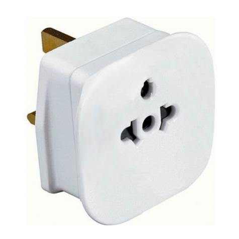 Value Range PIF2039 Universal Travel Adaptor|2 & 3 Pin|13 AMP|For Visitors to UK Thumbnail 2