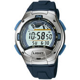Casio W753-2AVES Digital Casual Sport Watch|Moon Age-Tide Graph Display|LED|Blue