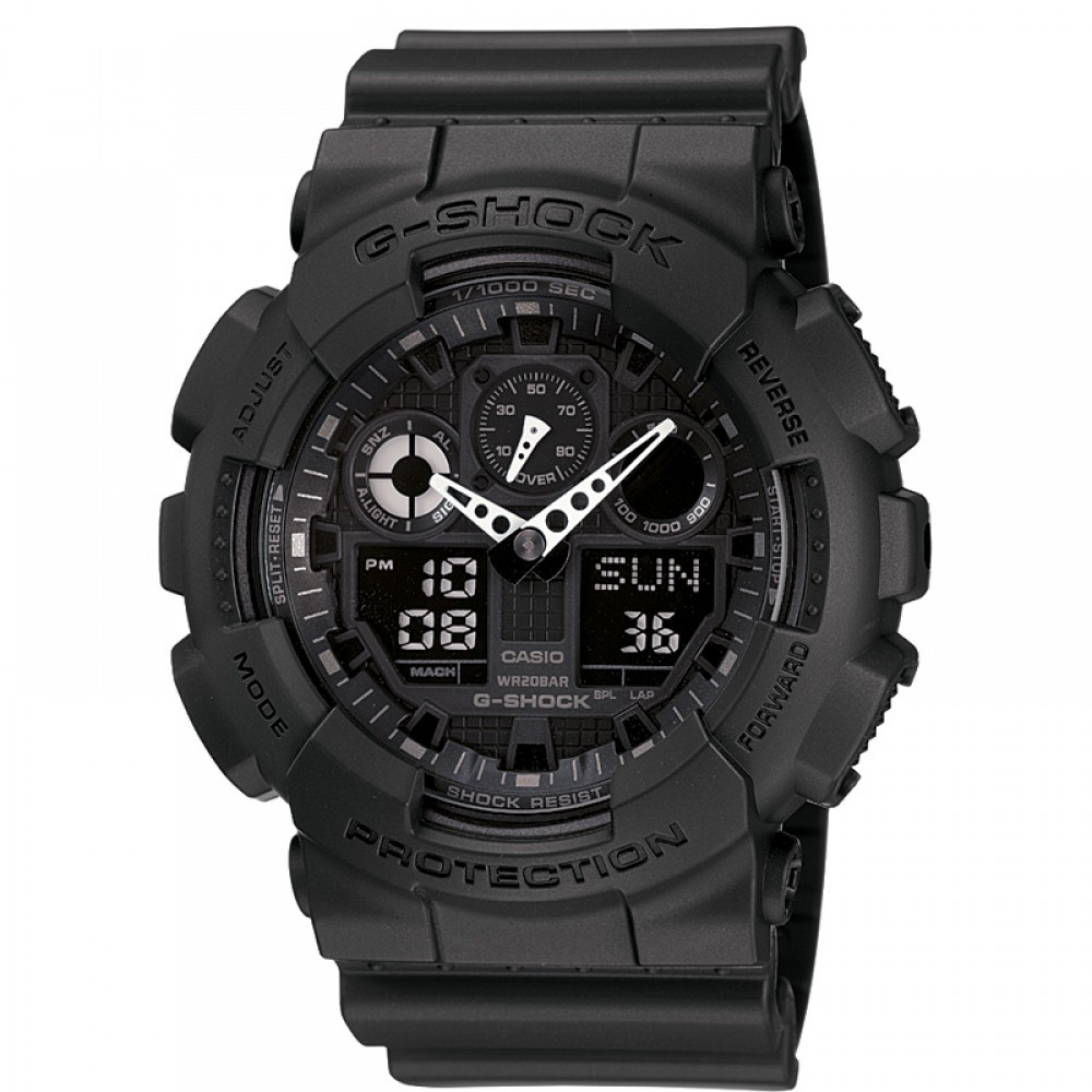 Casio G-Shock GA-100-1A1ER Mens Sport Watch|Shock & Water Resistant|World Time|