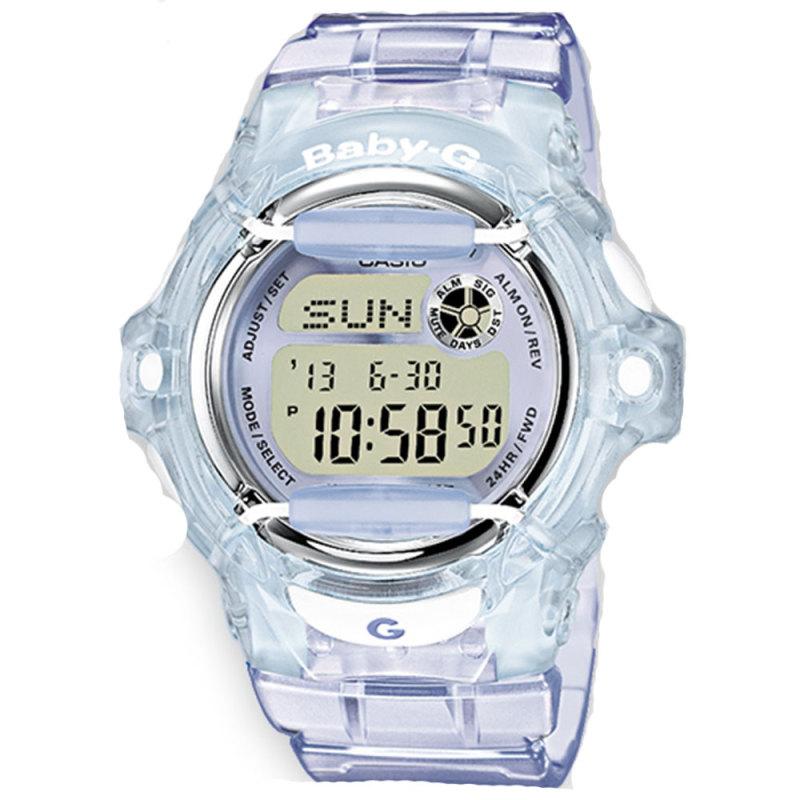 Casio Ladie's  BG169R-6ER Baby-G Watch / Alarm / Water Resist / Metalic Dial / Purple