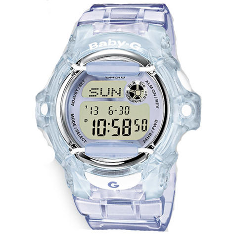 Casio Ladie's  BG169R-6ER Baby-G Watch / Alarm / Water Resist / Metalic Dial / Purple Thumbnail 1