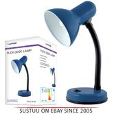Lloytron L958NB Flexible Neck Desk Lamp / Reading Bedroom Light / - Navy Blue