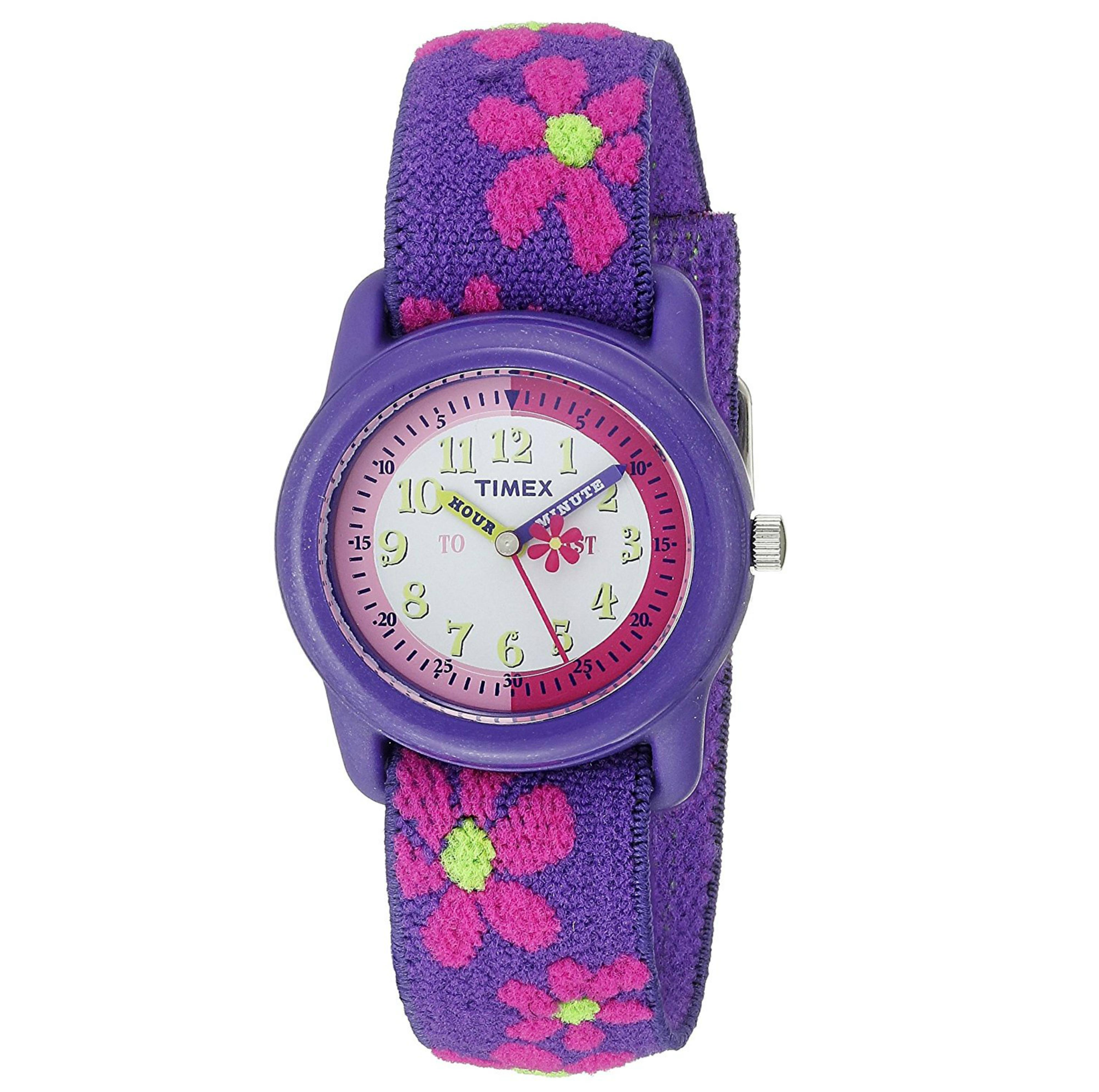 Timex Kidz T89022  Flowers Time Teacher Watch?Flower Strap?Analogue Display?NEW