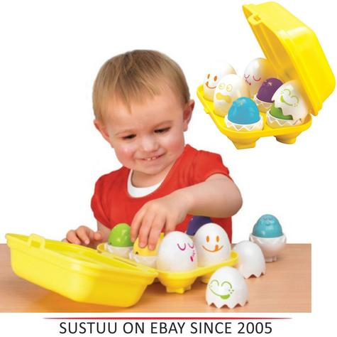 "Tomy Play to Learn - Hide ""n"" Squeak Eggs Kids Novelty?Child Play?E1581? Thumbnail 1"