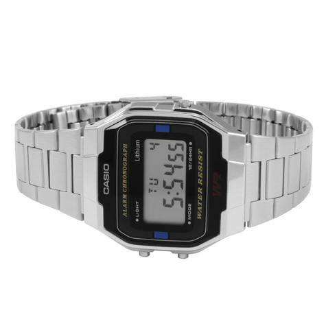 Casio A163WA-1QES Classic Digital Stainless Steel Wrist Watch|Water Resistant| Thumbnail 2