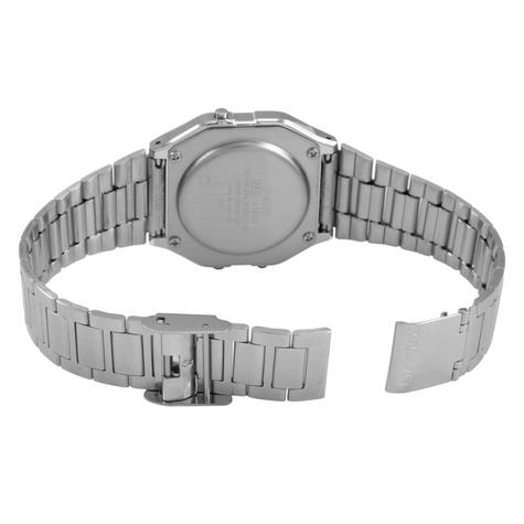 Casio A163WA-1QES Classic Digital Stainless Steel Wrist Watch|Water Resistant| Thumbnail 4