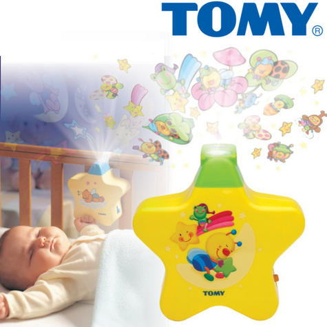 Tomy Starlight Dreamshow Yellow Baby's Cot Musical Night-Light | Ceiling Projector | +0 Months Thumbnail 1