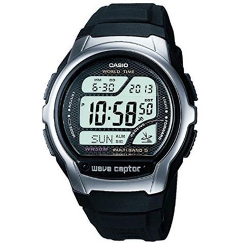 Casio WV58U-1AVEF Wave Ceptor Radio Controlled Watch|Digital|Dual Signal|WR|New Thumbnail 1