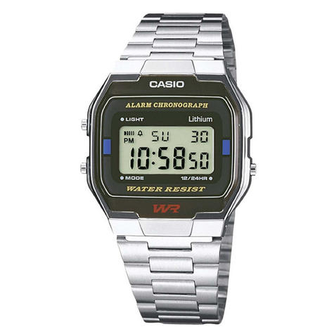 Casio A164WA-1Q Classic Digital Watch|Stainless Steel Band|Alarm|Microlight|New| Thumbnail 1