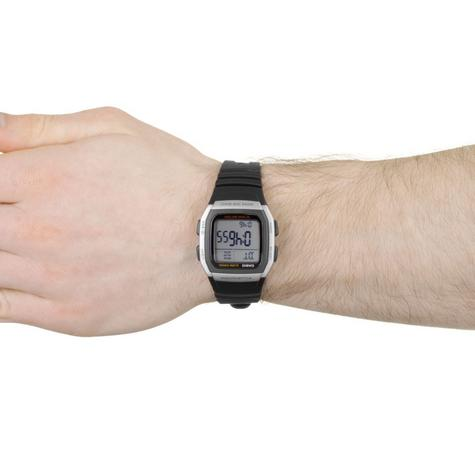 Casio Mens Digital LED Sports Watch | Black Resin Strap | Grey Square Dial | W-96H-1AVES Thumbnail 4