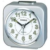 Casio TQ143S-8 Alarm Clock?Microlight & Snooze|Neo-display|Resin Case|Silver|New