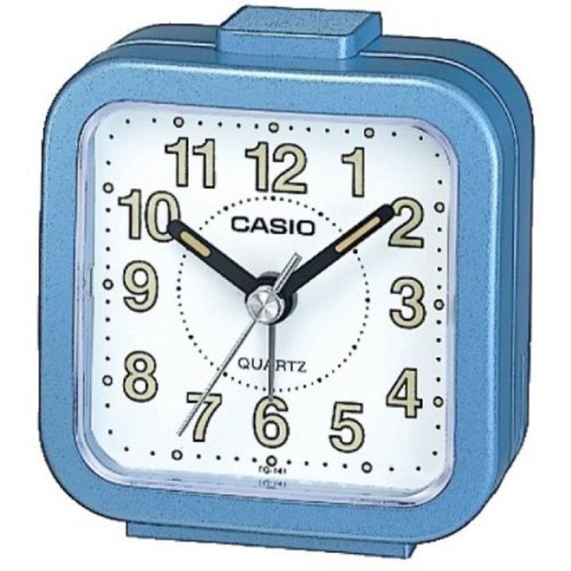 Casio Beep Alarm Clock - Blue Analog Luminous Hand TQ141-2