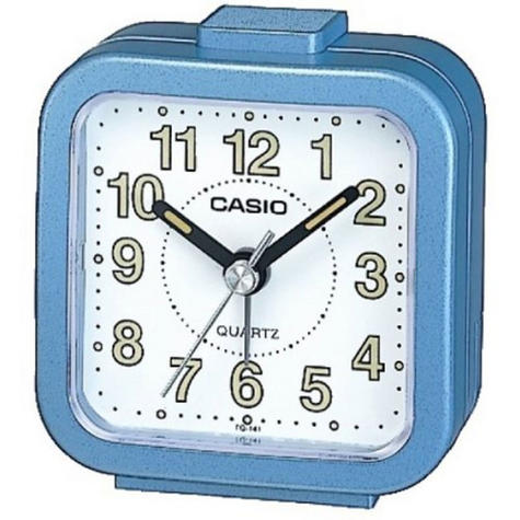 Casio Beeper Sound Alarm Clock | Blue Analog Luminous Hand | TQ-141-2EF | NEW Thumbnail 1