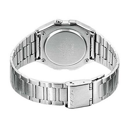 Casio Classic RETRO Stainlees Steel Strap LCD Digital Watch Silver A158WEA-1EF Thumbnail 3