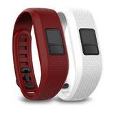 Garmin Vivofit 3 Regular Marsala/White Fitness Strap Band Pack of 2 010-12452-00