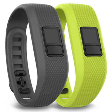 NEW Garmin Vivofit 3 Pack of 2 Gray/Green Fitness Activity Bands 010-12452-01 Thumbnail 1