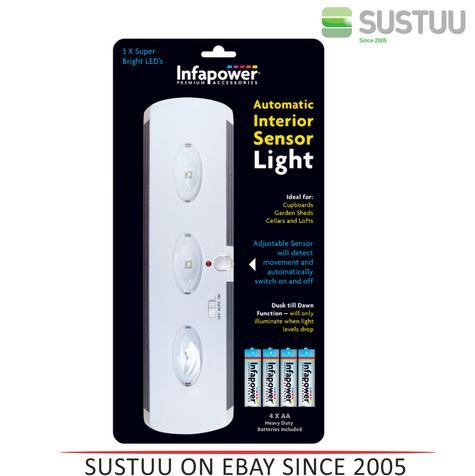 Infapower Automatic Interior Sensor Light for Home | Office | Leisure use - F030 Thumbnail 1