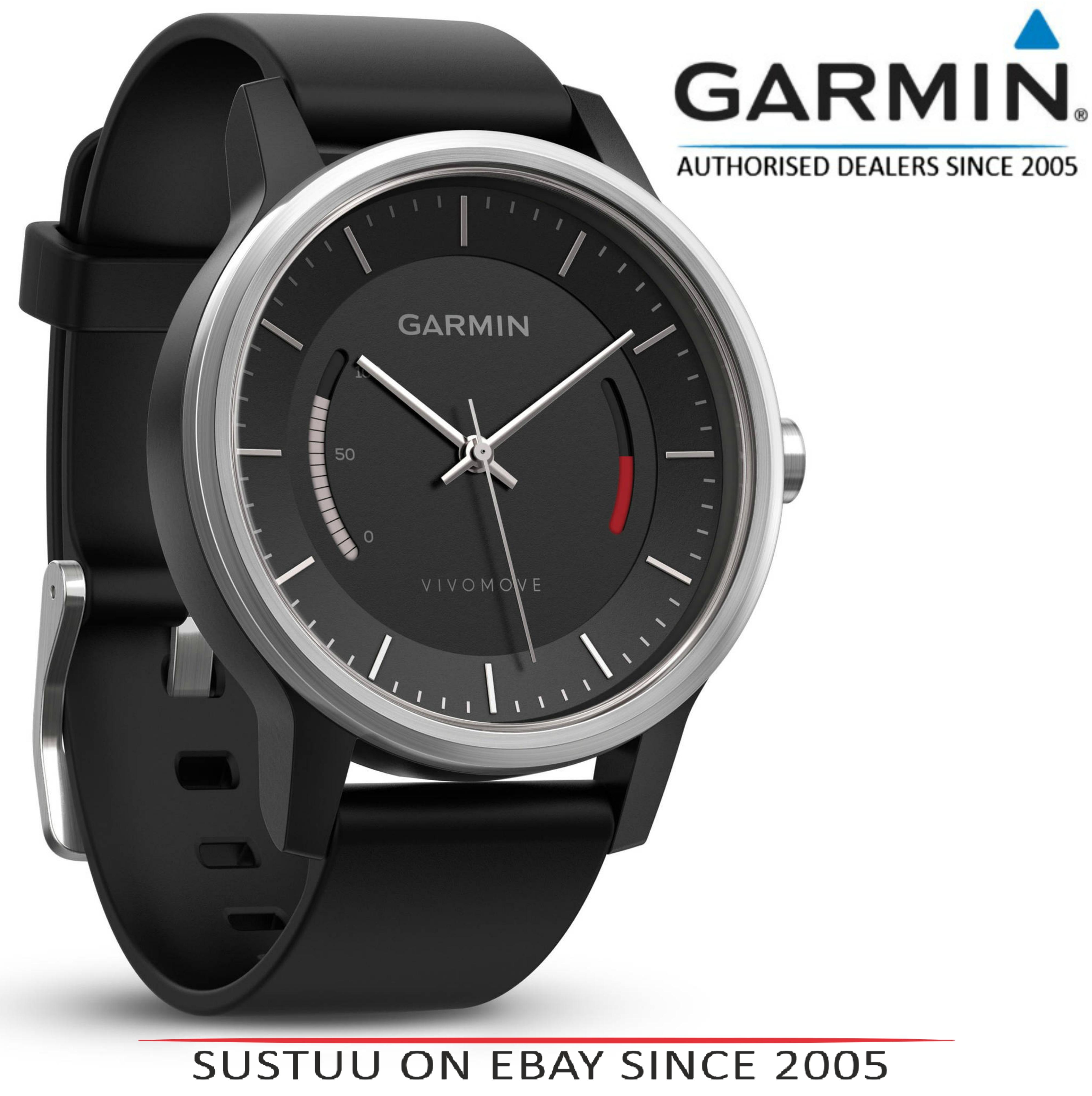 Garmin Vivomove|Analog Smart Unisex Watch|Activity Tracker|Sleep Monitor|Sports-Black