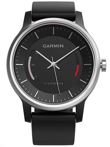 Garmin Vivomove|Analog Smart Unisex Watch|Activity Tracker|Sleep Monitor|Sports-Black Thumbnail 2