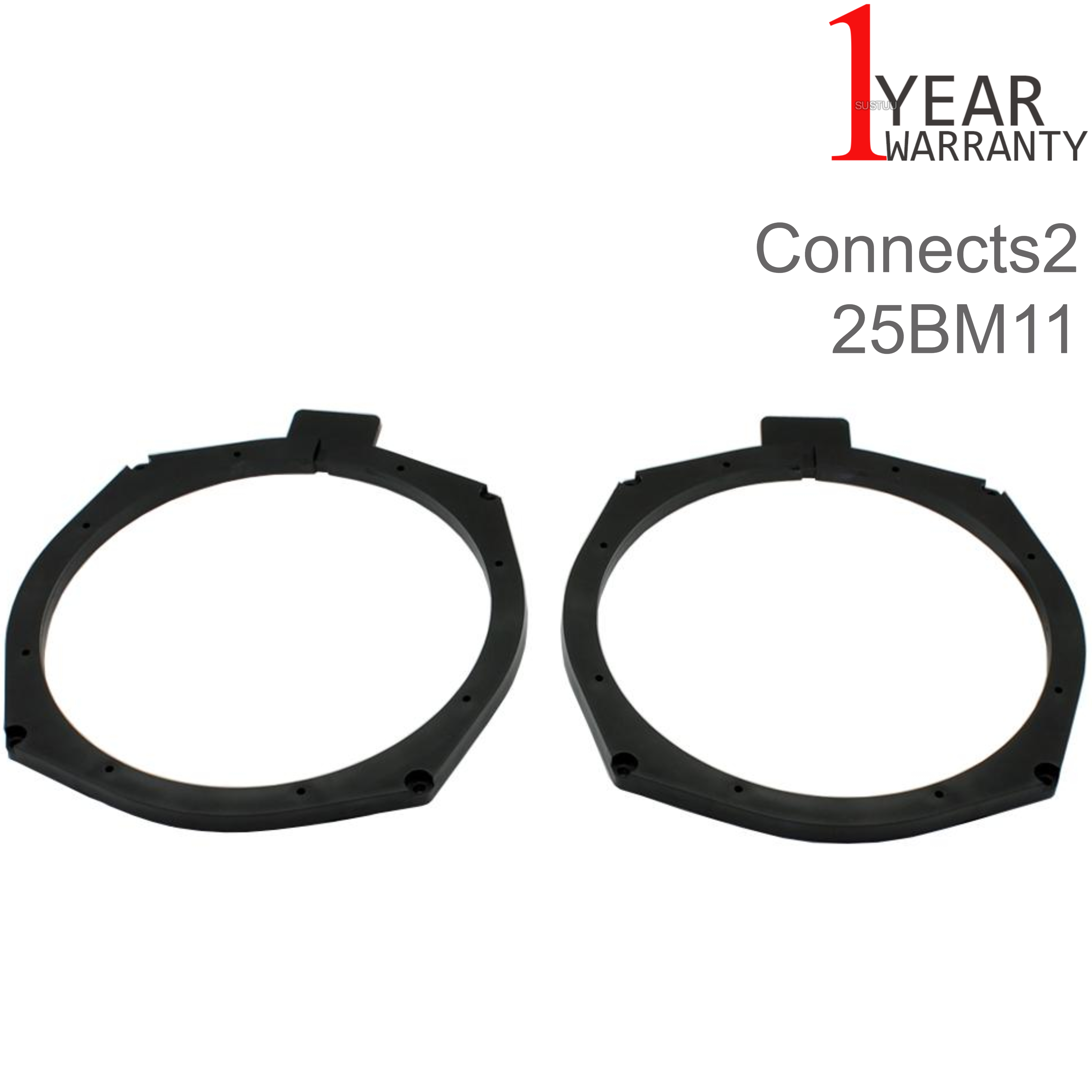 Connects2 204mm Rear Door Speaker Adapter | For BMW 5-SeriesF10/F11 2011> Car | Black