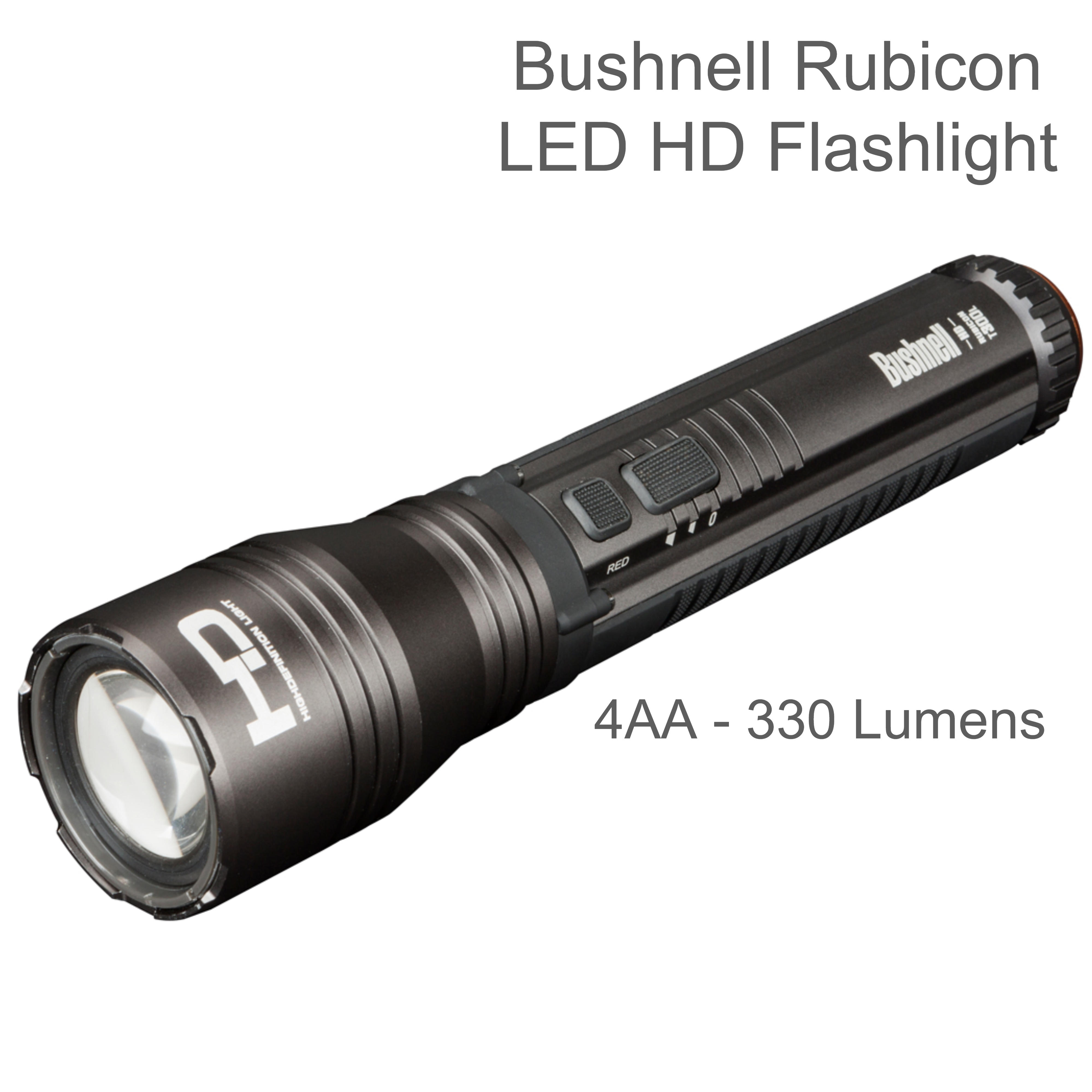 Bushnell 10T300HDM Rubicon HD LED Flashlight | 4AA - 330 Lumens Torch | Cree LEDs | IPX-4