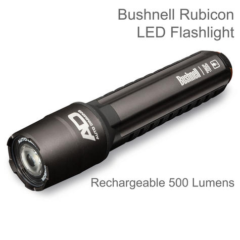 Bushnell 10R500ML T500R LED Flashlight | Rechargeable 500 Lumens | Cree LEDs | IPX-4 Thumbnail 1