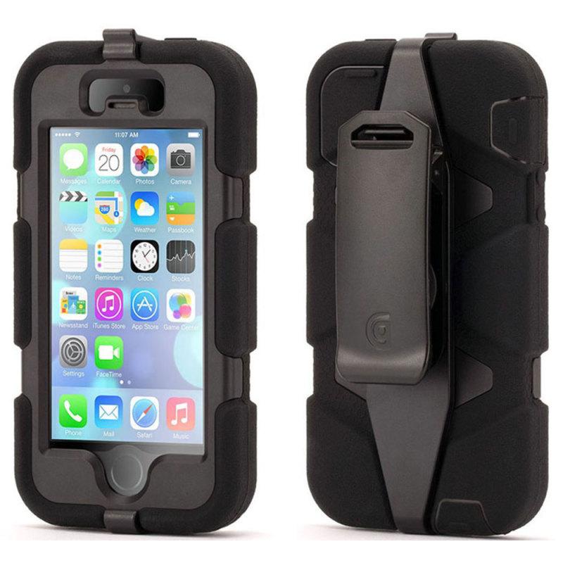 Griffin GB39732-2 Survivor Tough Durable Protective Case| Belt Clip| iPhone5|Black