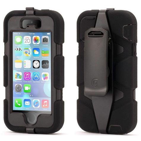 Griffin GB39732-2 Survivor Tough Durable Protective Case| Belt Clip| iPhone5|Black Thumbnail 1
