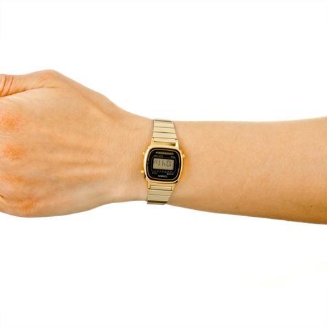 Casio LA670WEGA-1EF Ladies Digital Wrist Watch | Black/Gold Dial | Water Resistant Thumbnail 2