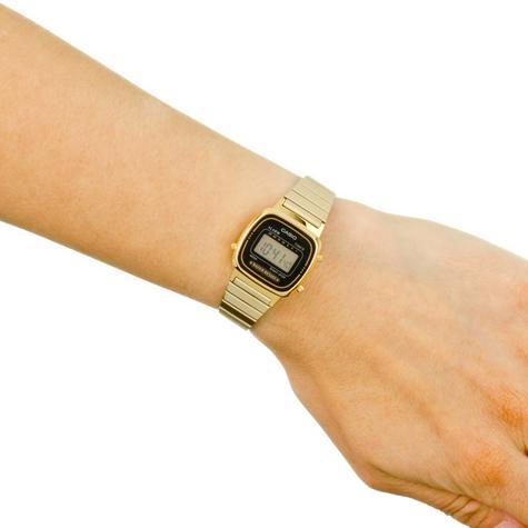 Casio LA670WEGA-1EF Ladies Digital Wrist Watch | Black/Gold Dial | Water Resistant Thumbnail 3
