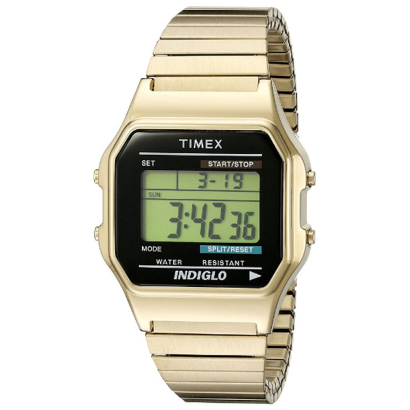 Timex T78677 Mens Style Watch|Chronograph|Alarm|Digital Display|Water Resistant|