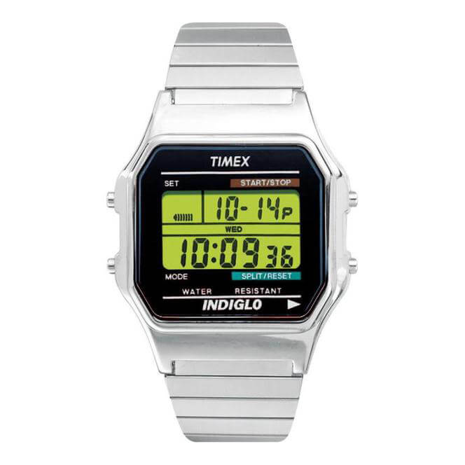 Timex T78587  Mens Style Digital Watch|Alarm|Chronograph|Water Resistant|Silver