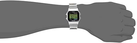 Timex T78587  Mens Style Digital Watch|Alarm|Chronograph|Water Resistant|Silver Thumbnail 5