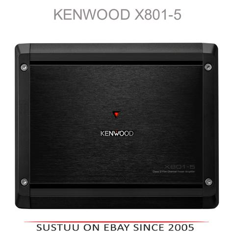 NEW Kenwood X801-5 Class D 5 Channel Power 500 Watts Speaker & Bass Amplifier  Thumbnail 1