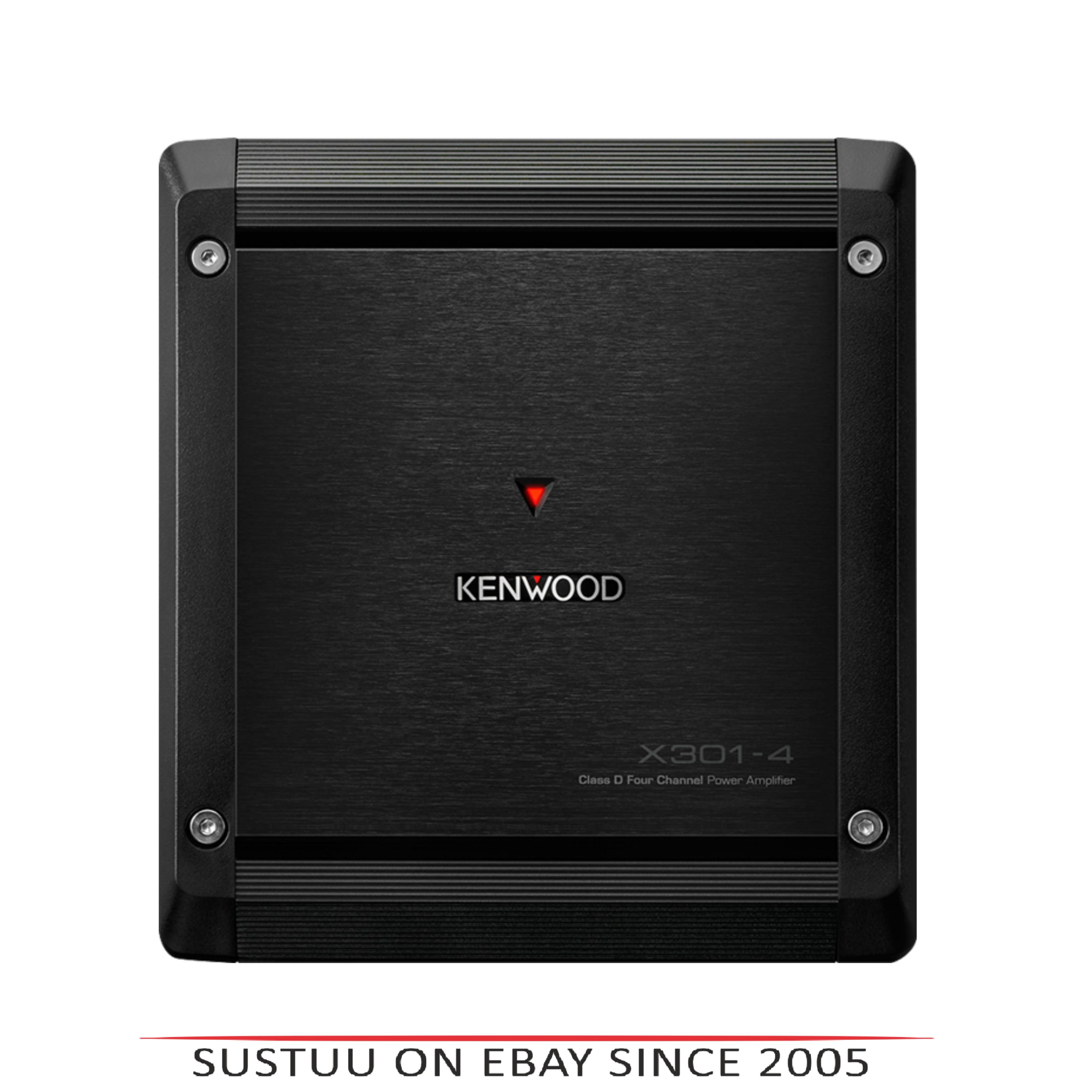 Kenwood X 301-4|4/3/2 Channel Power Amplifier|Class-D Mono|2 ohms|Stereo-Bridgeable