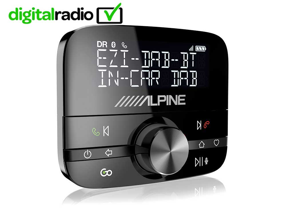 NEW Alpine EZI DAB BT | DAB+ Interface with Bluetooth | Hands-Free Car Digital Radio