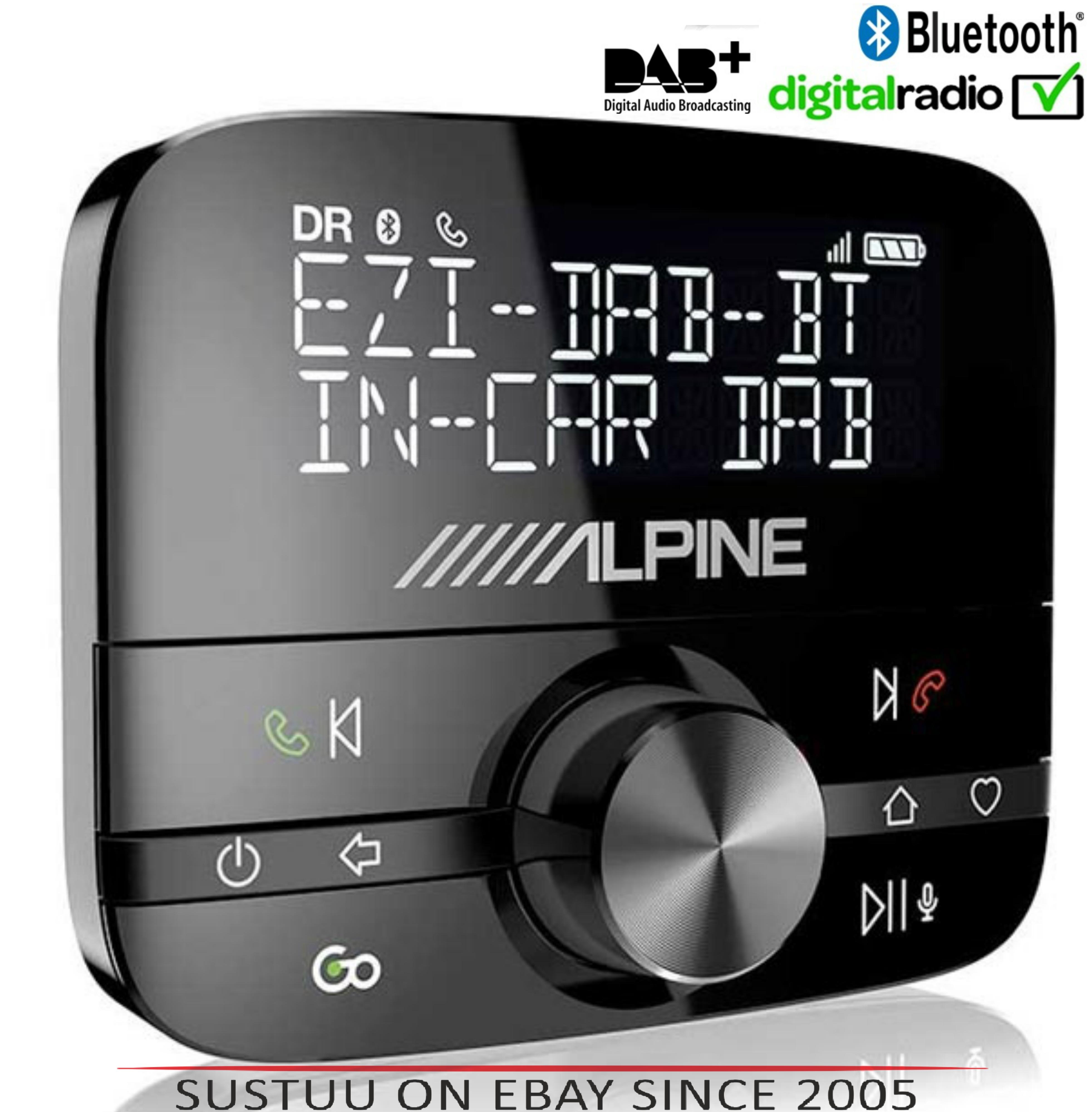 NEW Alpine EZI DAB BT?DAB+ Interface with Bluetooth?Hands-Free Car Digital Radio