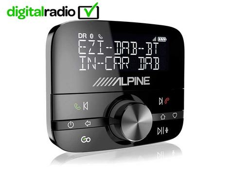 NEW Alpine EZI DAB BT | DAB+ Interface with Bluetooth | Hands-Free Car Digital Radio Thumbnail 1