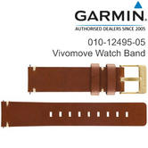 Garmin Replacement Wrist Strap Band | For Vivomove Watch | Light Brown-Leather | New